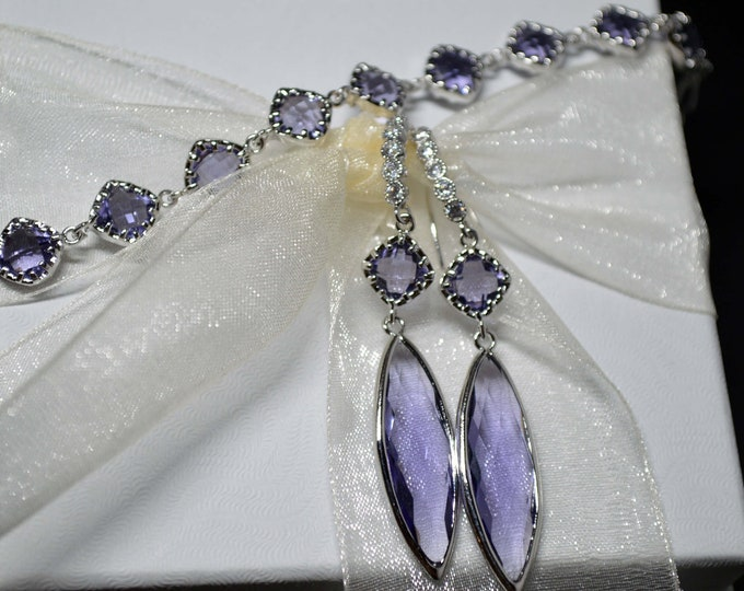 Amethyst Wedding Jewelry Set by Lepa Jewelry (K555)