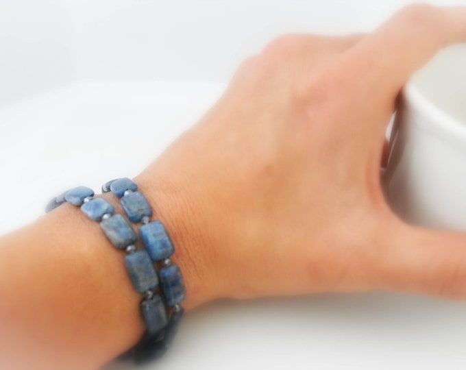 Dual Purpose Gemstone Bracelet or Choker Necklace By Lepa Jewelry (K427)