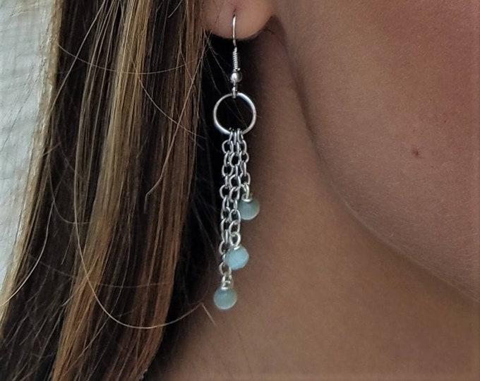 Simple Green Drop Earrings By Lepa Jewelry (K264)