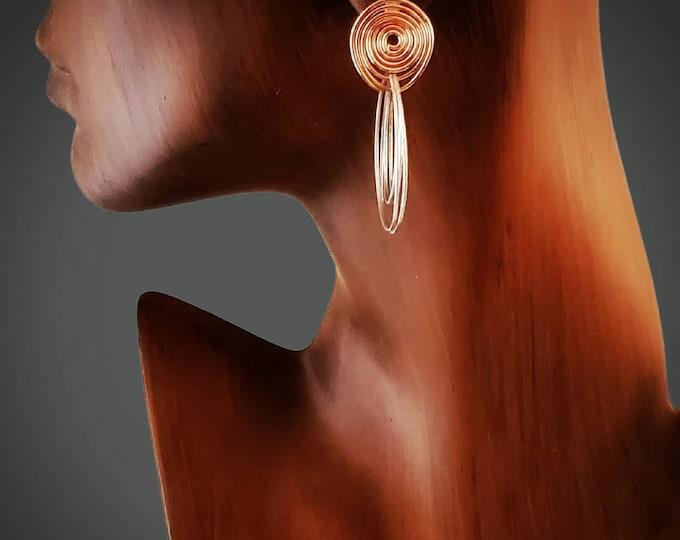 Bohemian Earrings, Boho Statement Earrings, Runway Glam Fashion Earrings, Gift for Her