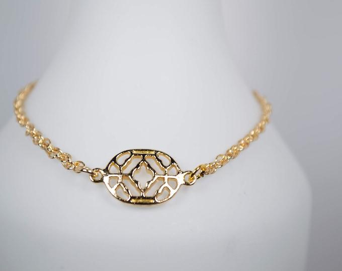 Dainty Gold Chain Link Bracelet by Lepa Jewelry (K524)