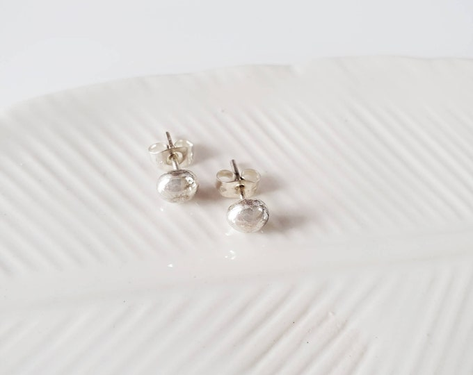 Solid Sterling Silver Studs Earrings - Lepa Jewelry (K808)