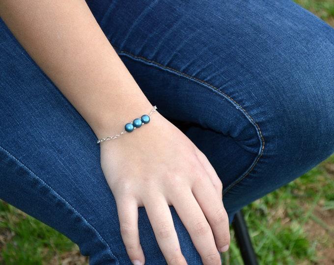 Dainty Teal Green Bracelet by Lepa Jewelry (K518)