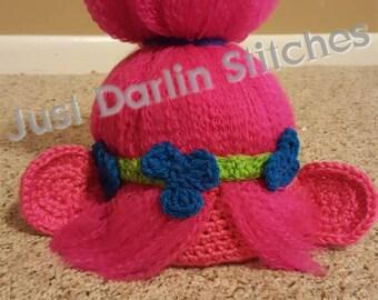 Crochet Trolls Hat PATTERN 25910487122