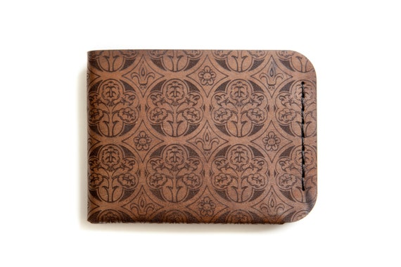 2518547a8b7ea Etched Horween Leather Wallet  Frankfurt Church