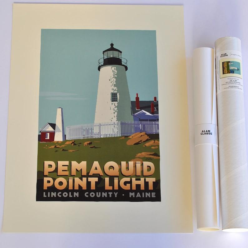 Pemaquid Point Light 18x24 print © Alan Claude