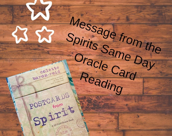 Same Day Postcards from Spirit Oracle Card Pull Messages from the Spirts, Personal Messages from the Spirit World