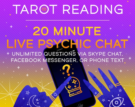 Live 20 Minute Psychic Reading via Skype Chat/Facebook Messenger/Phone Text