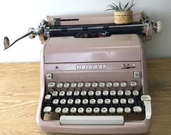 Vintage Hipster Pink Royal Manual Typewriter Model HHE-13-6146311