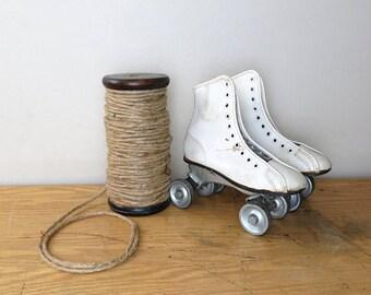 Vintage White Roller Derby Skates