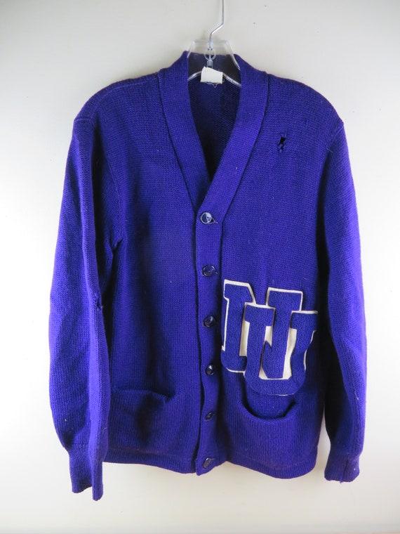 Vintage - Nelson Knitting Mills Co Purple Varsity