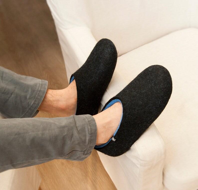 af8a463915b52a Pantofole da camera di lana lana zoccoli regalo unico per