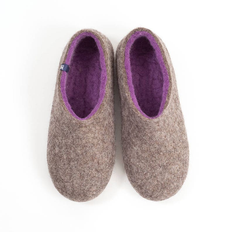 8e6af9a1c45 Womens Felt Slippers Wool Clogs best house slippers bedroom