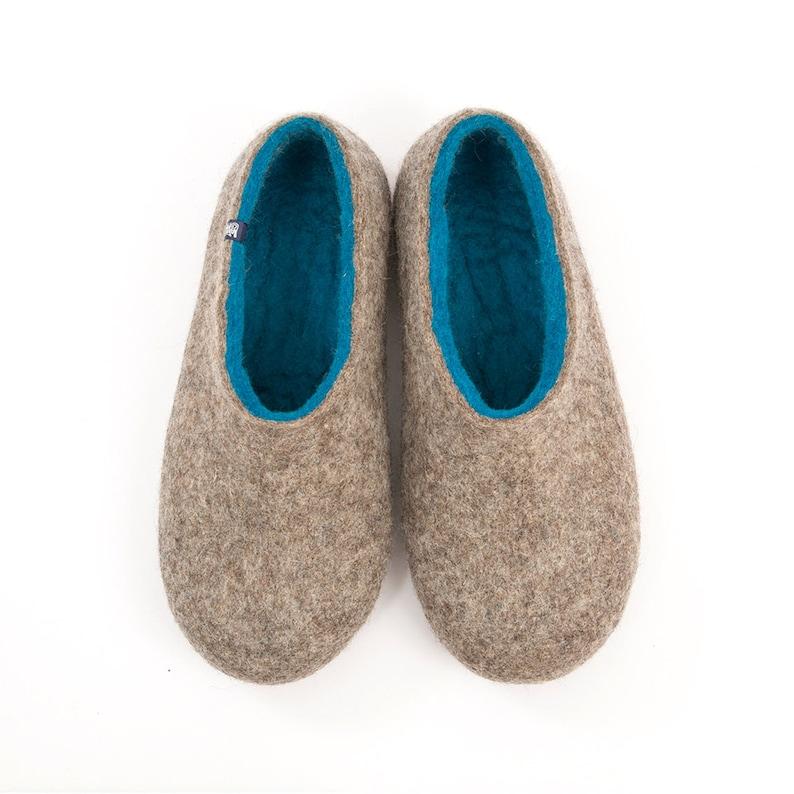 c93c0e9299519c Pantofole infeltrite per gli uomini feltro lana zoccoli