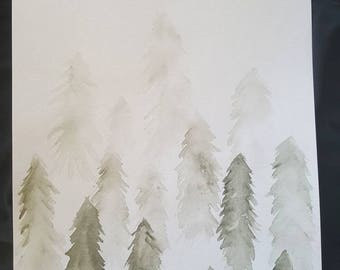 Foggy Watercolor Painting