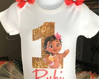 a1feb8f824a81 Baby Moana Birthday Onesie   Moana Birthday Shirt   Personalized Birthday  Onesie   Custom Birthday Shirt   1st 2nd 3rd 4th 5th