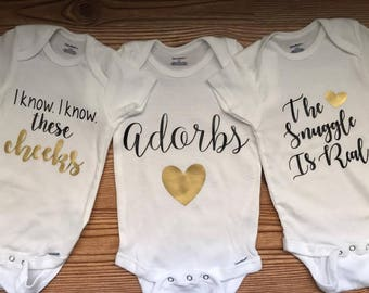 Baby Girl Onesies, Girl Onesies , Baby Girl Cute Onesies, Onesie Set Option, BUY more and SAVE