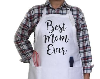 Best Mom Ever Apron. Mother's Day Gift. Birthday Gift. Gift For Mom.