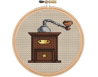 Instant Download. Grinder Counted Cross Stitch Pattern. PDF Kitchen Decor Pattern.Art. Home Decor Pattern.