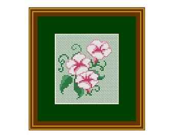 Flower Counted Cross Stitch Pattern. PDF Instant Download. Nature. Decor Pattern. Counted Cross Stitch Patterns.