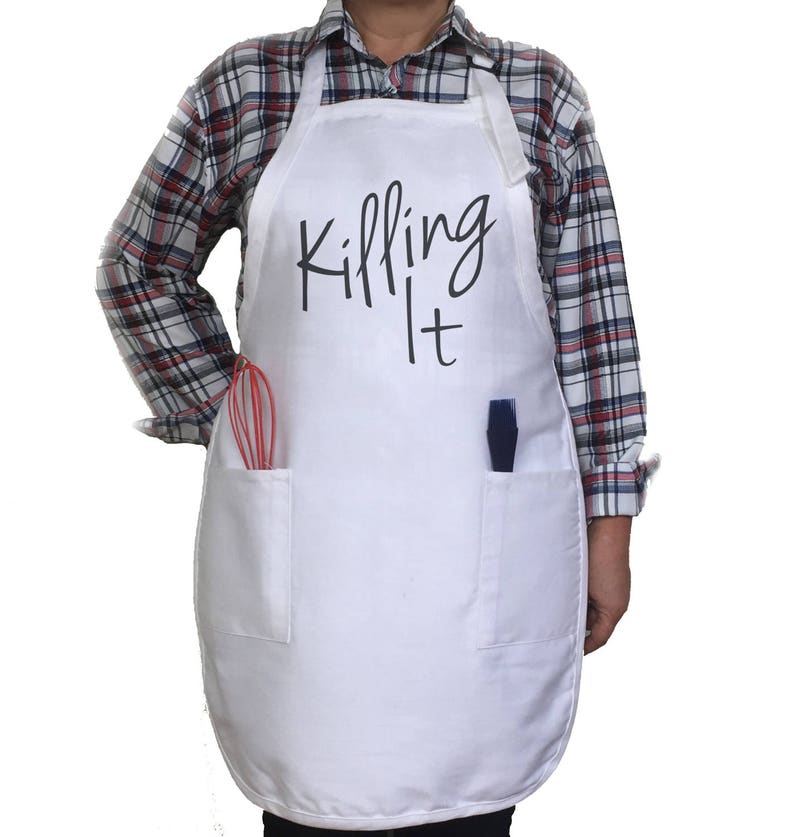 Mother/'s Gift Personalised Apron. Gift Baker/'s Apron Killing It Apron Kitchen Apron Holiday Apron Chief Apron