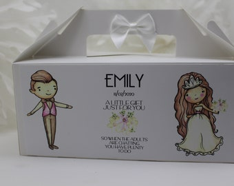 CHILDRENS ACTIVITY BOX  PERSONALISED WEDDING BOXESKRAFT WREATHPARTY BAG