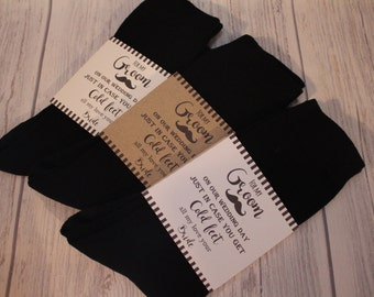 Groom Socks-Just in case you get cold feet card wrap and socks