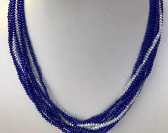 Blue Multistrand Convertible Necklace