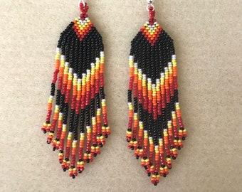 Southwestern Style Fringe Earring