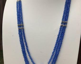 Sapphire Blue Multistrand Necklace