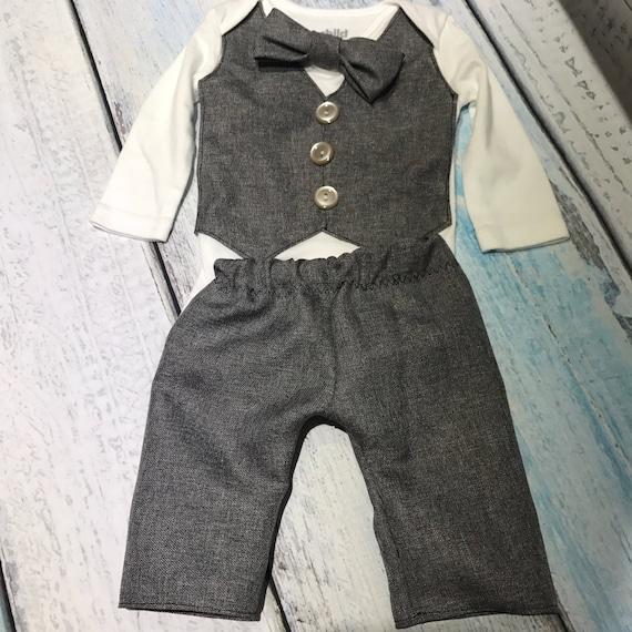 Bébé costume - costume nouveau-né - Costume enfant - Veste bébé - 3 pièces costume - costume de tweed vest - tenue de bébé nouveau-né - bébé garçon - tweed vest