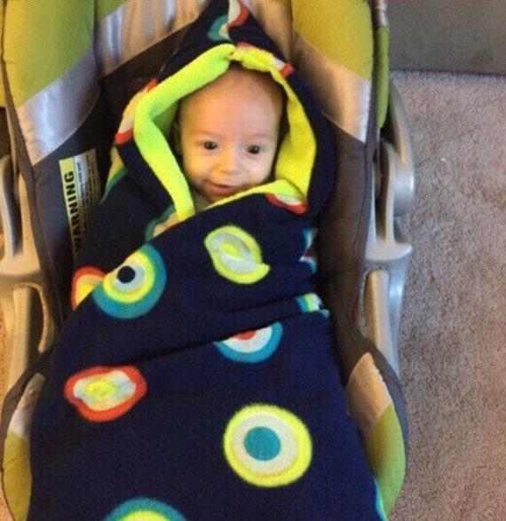 Carseat Blanket Hooded Car Seat Swaddle