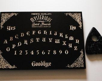 Black Madame Devallia Spirit Board |Wood Carved Ouija Board | Wooden Ouija Board | Occult Witchcraft Seance Pagan Paranormal