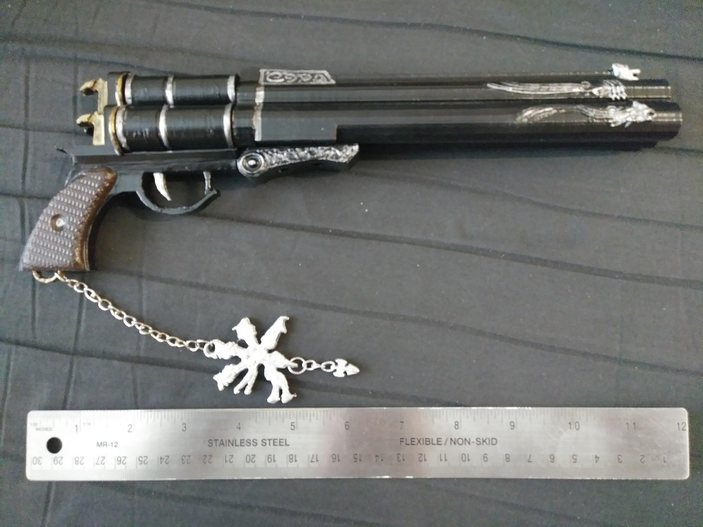 Cerberus 3D printed fan art replica pistol from FFVII