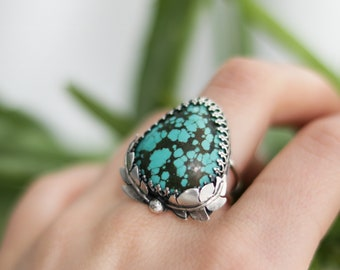 Boho Ring, Statement Ring, Turquoise, Boho Jewelry, Handmade Jewelry, Turquoise Ring, Gemstone Ring, Hippie, Boho, Crystal Ring, Bohemian