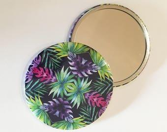 Pocket Mirror ~ Illustration ~ Watercolour Design ~ Floral Pattern ~ Print ~ Accessories ~ Compact