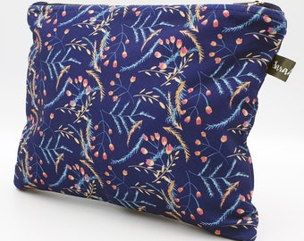Cosmetic Bag ~ Clutch Bag ~ Tulip ~ Handmade ~ Watercolour ~ Surface Pattern ~ Print Design ~ Accessories ~ Hand Drawn