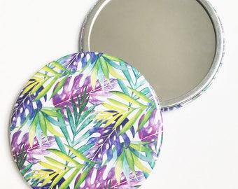 Pocket Mirror ~ Original Illustration ~ Watercolour Design ~ Floral Pattern ~ Print Design ~ Accessories ~ Compact ~ Hand Drawn