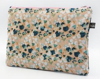 Cosmetic Bag ~ Clutch Bag ~ Handmade ~ Watercolour Design ~ Autumn~ Surface Pattern ~ Print Design ~ Accessories ~ Hand Sewn