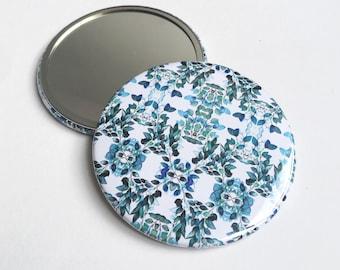 Pocket Mirror ~ Original Illustration ~ Watercolour Design ~ Surface Pattern ~ Print Design ~ Accessories ~ Compact ~ Hand Drawn
