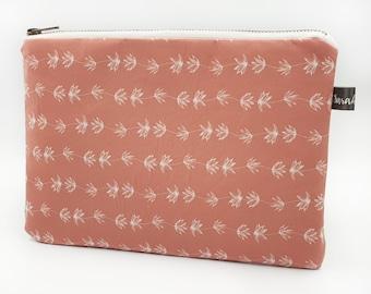 Cosmetic Bag ~ Clutch Bag ~ Rose Blush ~ Handmade ~ Watercolour ~ Surface Pattern ~ Print Design ~ Accessories ~ Hand Drawn