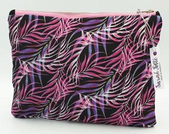Cosmetic Bag ~ Clutch Bag ~ Tropical ~ Handmade ~ Watercolour Design ~ Surface Pattern ~ Print Design ~ Accessories ~ Hand Drawn ~ Hand Sewn
