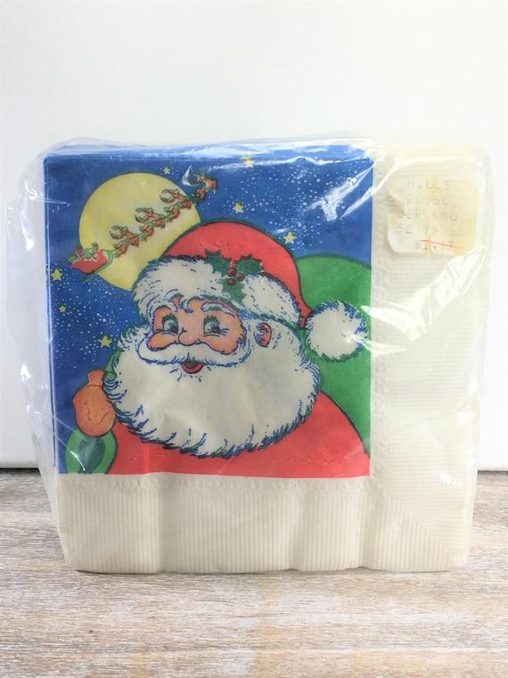 48 Poinsettia Paper Napkin Rings Christmas Party Supplies
