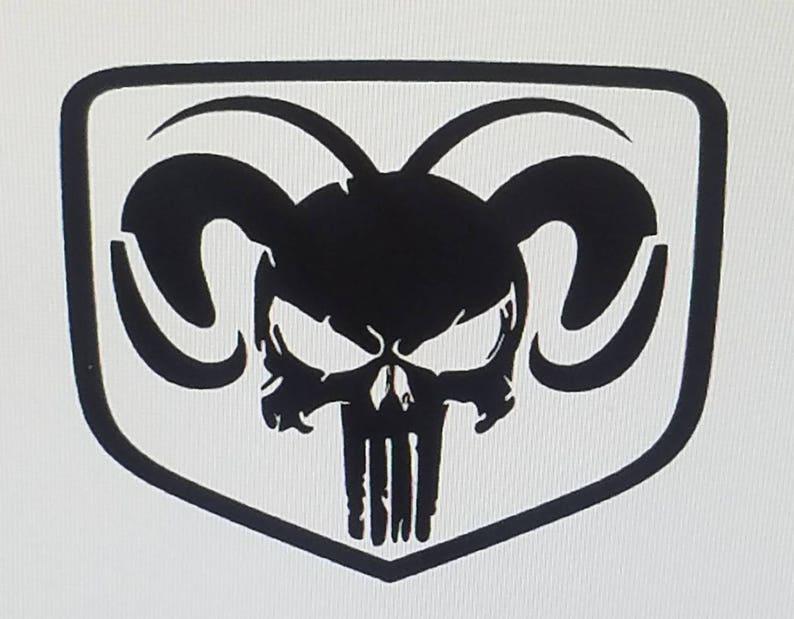 Dodge Ram Punisher Decals The Punisher Car Stickers Etsy