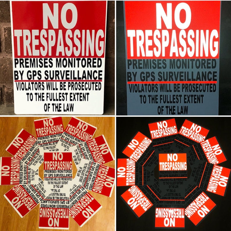 No Trespassing Signs / Bulk Metal Signs / Private Property Signs / Custom  Metal Signs / Posted Outdoor Signs / No Hunting / No Parking Signs