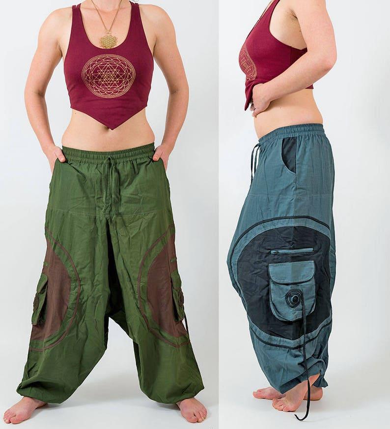 c44893c58e Harem pants, mens festival trousers, baggy hippy pants, yoga pants unisex,  afghan trousers hippie pants, dance pants, comfortable cotton MC2