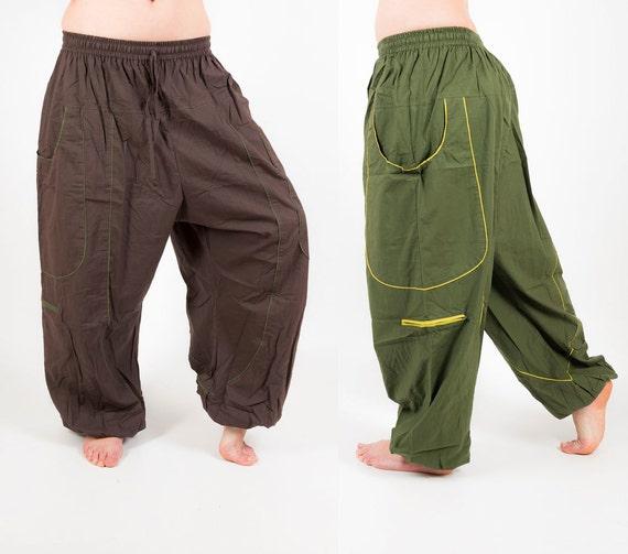 Men's Unisexy Harem Pants Yoga Pants Aladdin Pant TnWA43pe