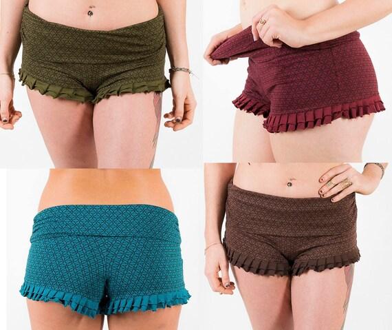 Yoga Shorts Ruffle Booty Frill Short Cotton Stretchy Dance