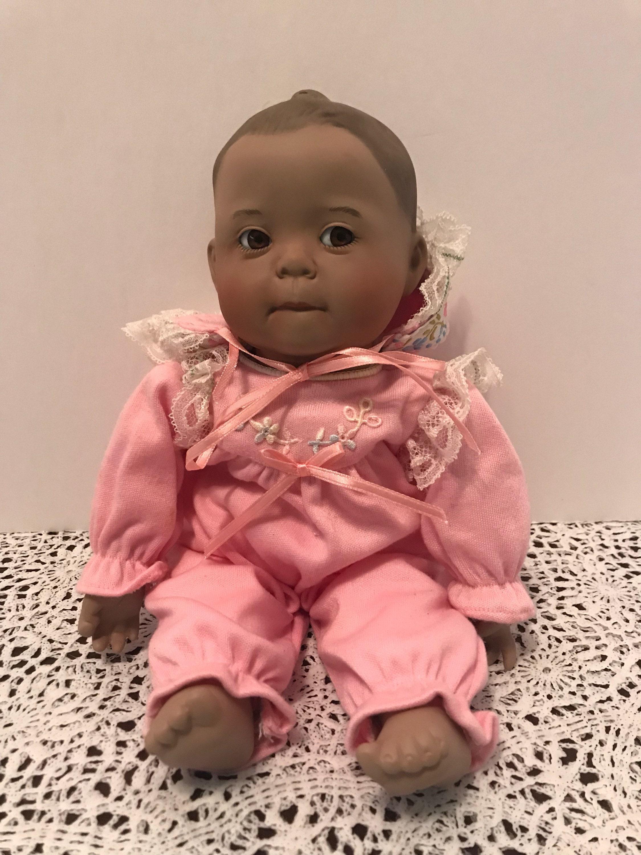 Ashton Drake Baby Pink Flower Porcelain Doll