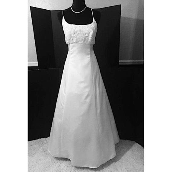Vintage Tie Back Wedding Dress